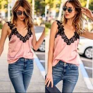 Tops - Last one!!!  Lace silky soft Cami